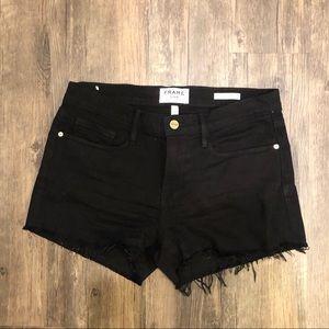 Frame Black Denim Shorts